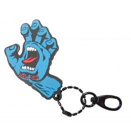 Santa Cruz Santa Cruz Key Fob Screaming Hand Silicon Blue