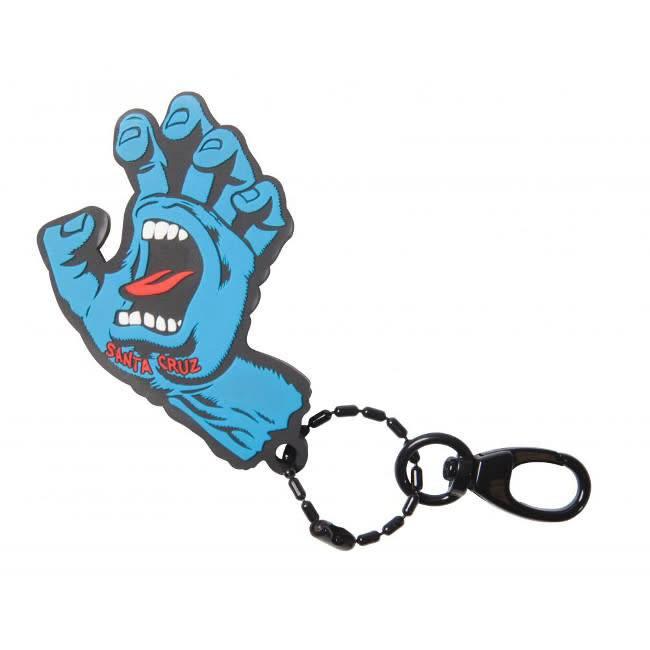 Santa Cruz Santa Cruz Keychain FOB screaming Hand silicon