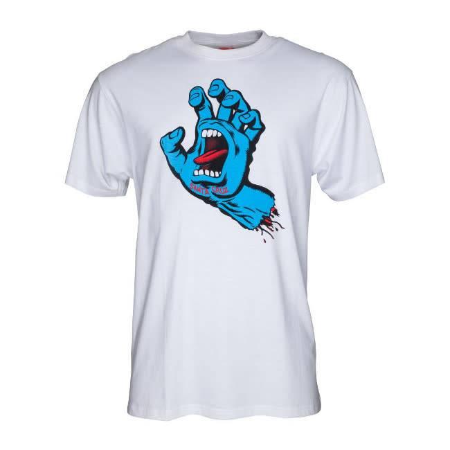 Santa Cruz Santa Cruz T Shirt Screaming Hand White S ADULT