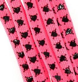 Sure Grip Sure Grip laces slip-not hearts pink black 180cm