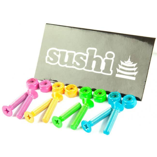 "Sushi Sushi bolts allen 1"" coloured pink green orange blue"