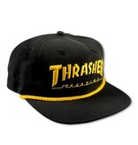 Thrasher Thrasher cap Logo Rope snapback black yellow