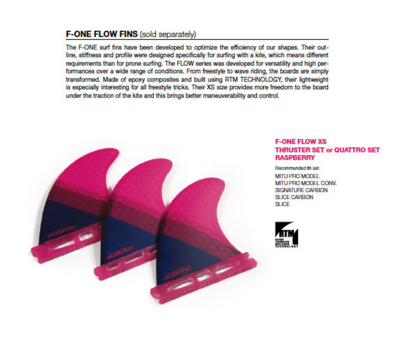 F-ONE Flow Thruster Raspberry