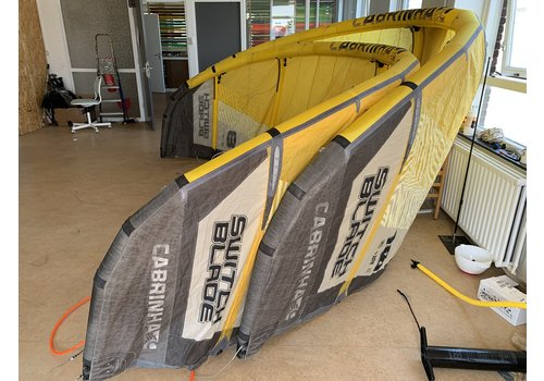 Cabrinha Switchblade 2018 Yellow 8-10m + Bar gebruikt