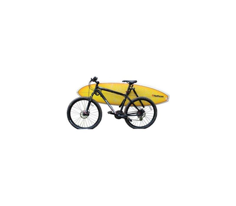 Lowrider bike board carry rack