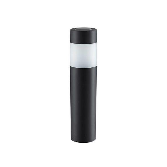 Luxe led solar tuinlampen zwart - set 4