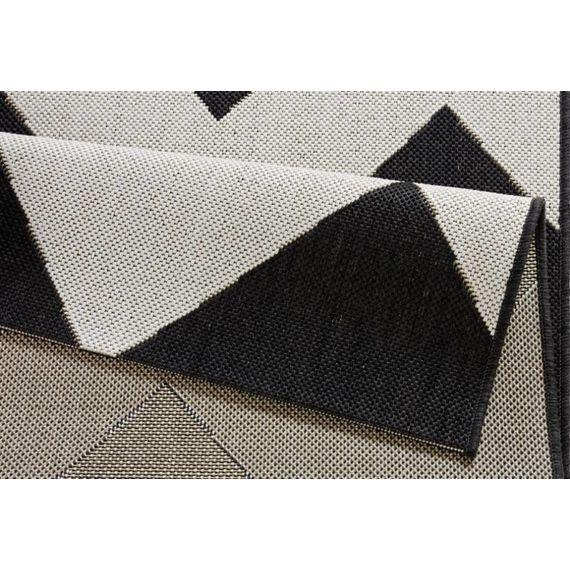 Bougari Buitenkleed - Unique zwart/creme