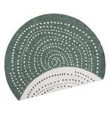 Bougari Rond Buitenkleed - Twin Dot Groen/Creme