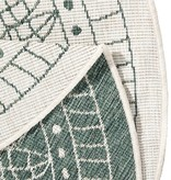 Bougari Rond vloerkleed Twin Kring - Groen/Creme