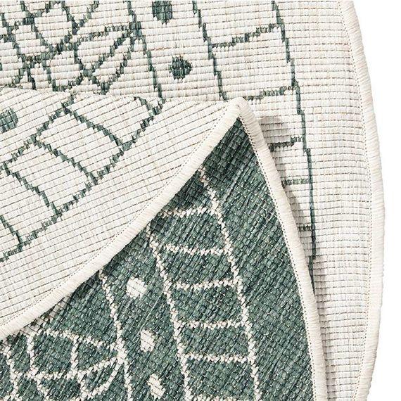 Bougari Rond Buitenkleed Twin Kring - Groen/Creme