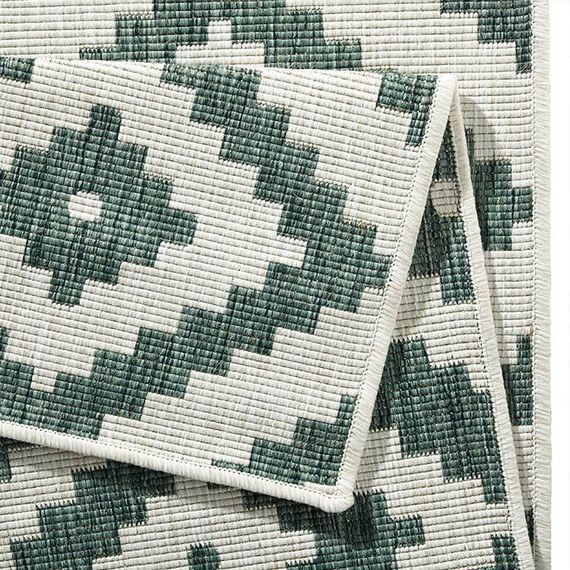 Bougari Buitenkleed - Twin Diamond Groen/Creme