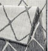 Bougari Buitenkleed - Twin Lines Grijs/Creme