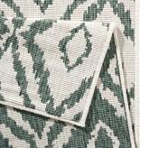 Bougari Buitenkleed - Twin Ruit Groen/Creme