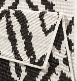 Bougari Buitenkleed - Twin Ruit Zwart/Creme