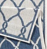 Bougari Buitenkleed - Twin Circle Blauw/Creme
