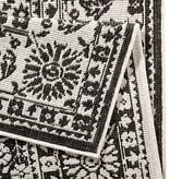 Bougari Buitenkleed - Twin Barok Zwart/Creme