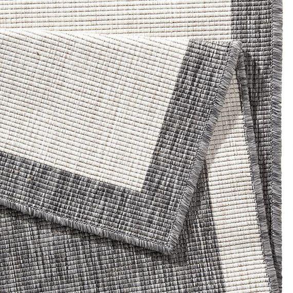 Bougari Buitenkleed - Twin Square Grijs/Creme
