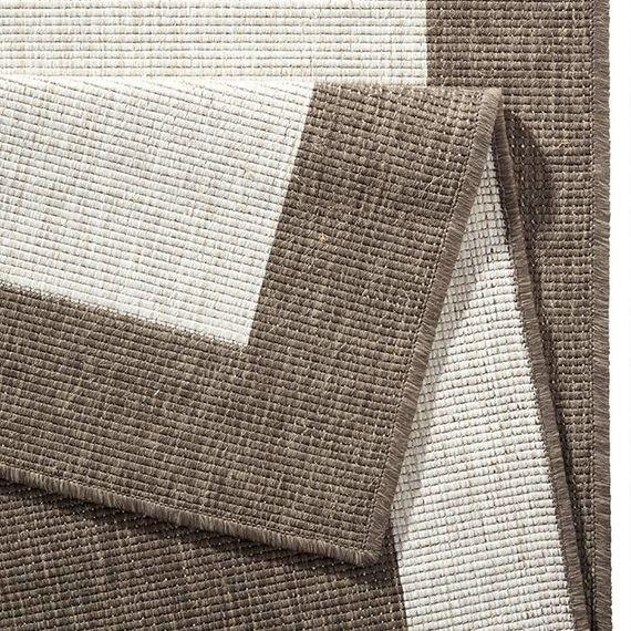 Bougari Buitenkleed Twin Square - Bruin/Creme