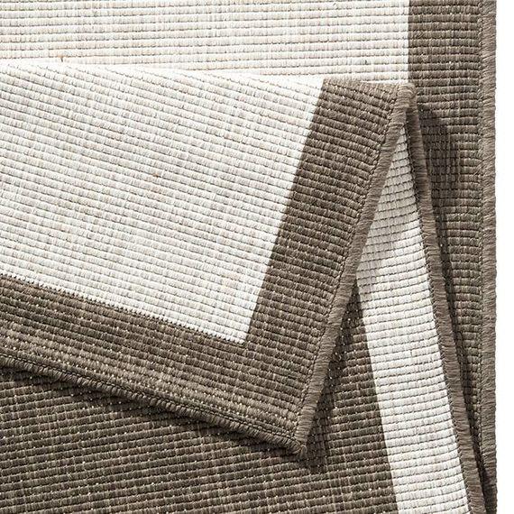Bougari Buitenkleed - Twin Square Bruin/Creme