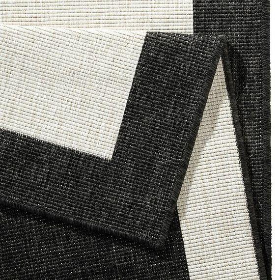 Bougari Buitenkleed - Twin Square Zwart/Creme