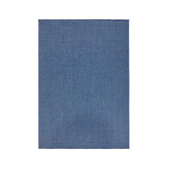 Bougari Buitenkleed - Twin Solid Blauw/Creme