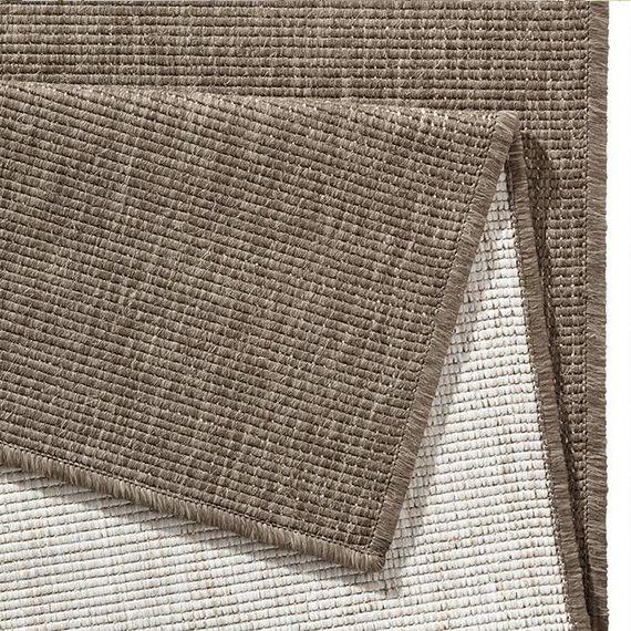 Bougari Buitenkleed Twin Solid - Bruin/Creme