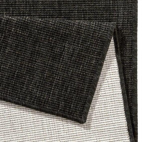 Bougari Buiten vloerkleed - Twin Solid Zwart/Creme