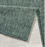 Bougari Buitenkleed Twin Solid - Groen/Creme