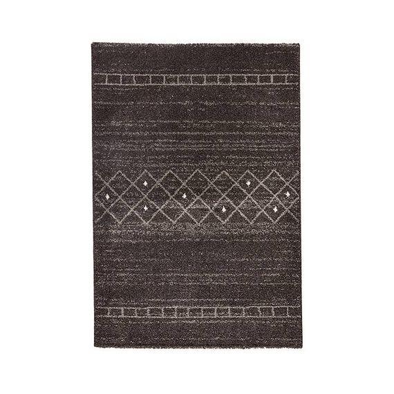 Mint Rugs Hoogpolig vloerkleed - Rana Stripes bruin/grijs