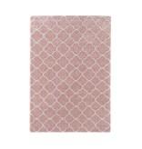 Mint Rugs Hoogpolig vloerkleed - Hamar Ringen roze/creme