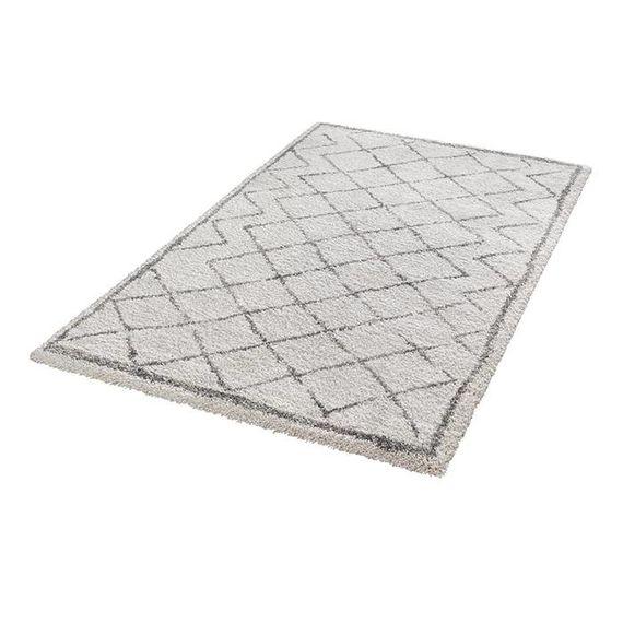 Mint Rugs Hoogpolig vloerkleed - Hamar Diamond creme/grijs