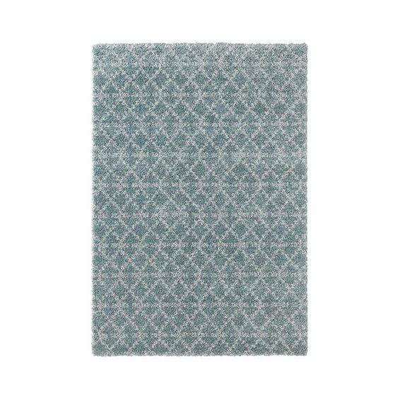 Mint Rugs Hoogpolig vloerkleed - Hamar Rustiek blauw/creme