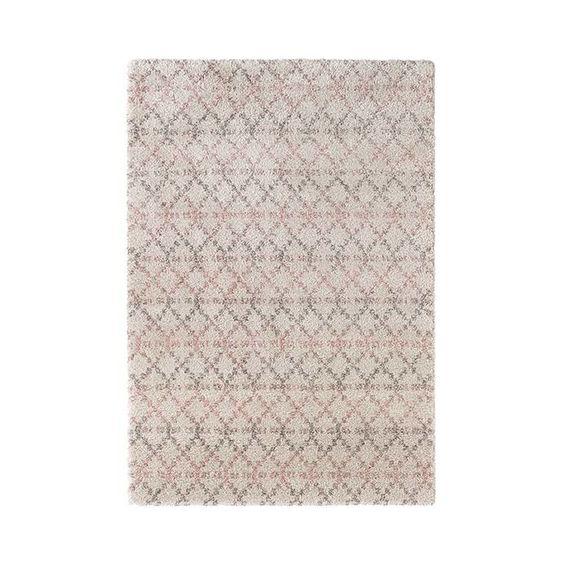 Mint Rugs Hoogpolig vloerkleed - Hamar Rustiek creme/roze