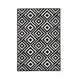 Zala living Retro vloerkleed - Bastille Blok zwart/wit