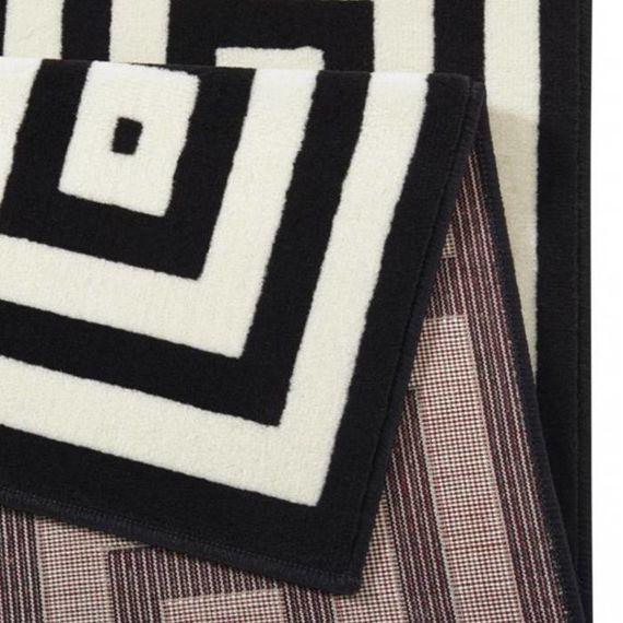 Zala living Retro vloerkleed - Bastille Square zwart/wit
