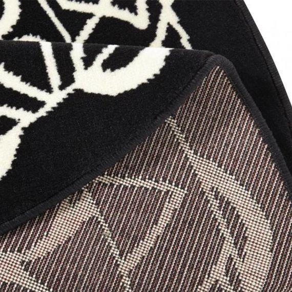Zala living Rond klassiek vloerkleed - Bastille Ornament zwart/wit