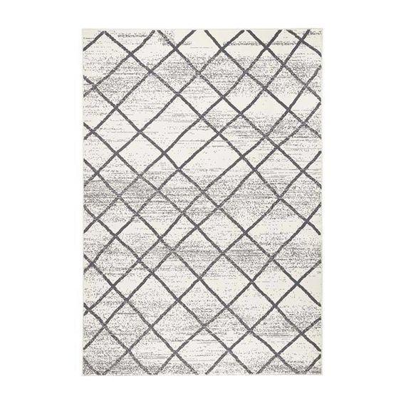 Zala living Modern vloerkleed - Bastille stripe Creme/Grijs
