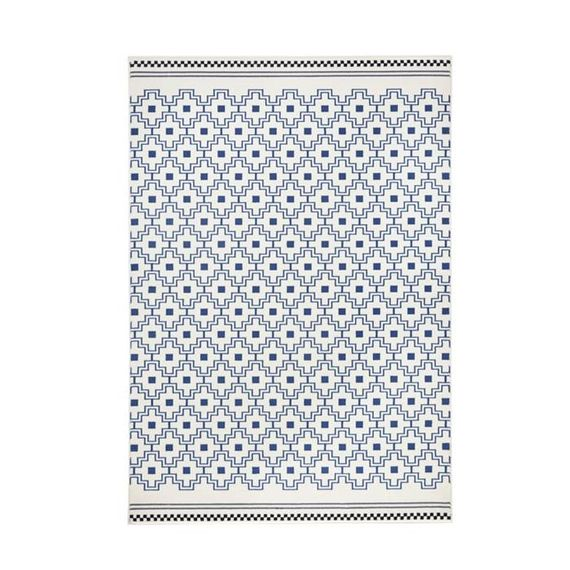 Zala living Modern vloerkleed - Bastille Cube Blauw/Creme