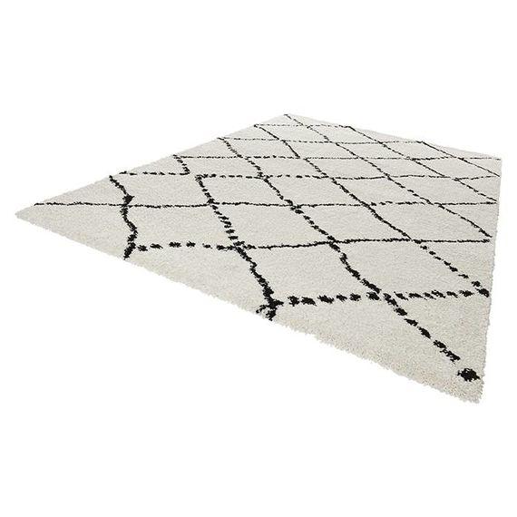 Mint Rugs Hoogpolig vloerkleed - Allure Stripe creme/zwart