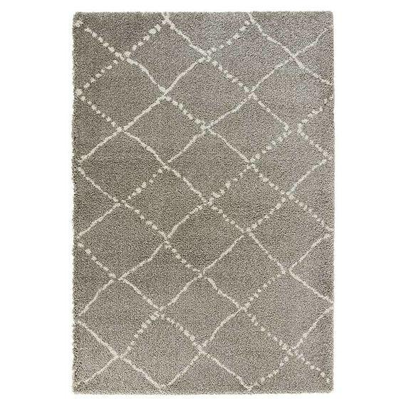 Mint Rugs Hoogpolig vloerkleed - Allure Stripe grijs/creme