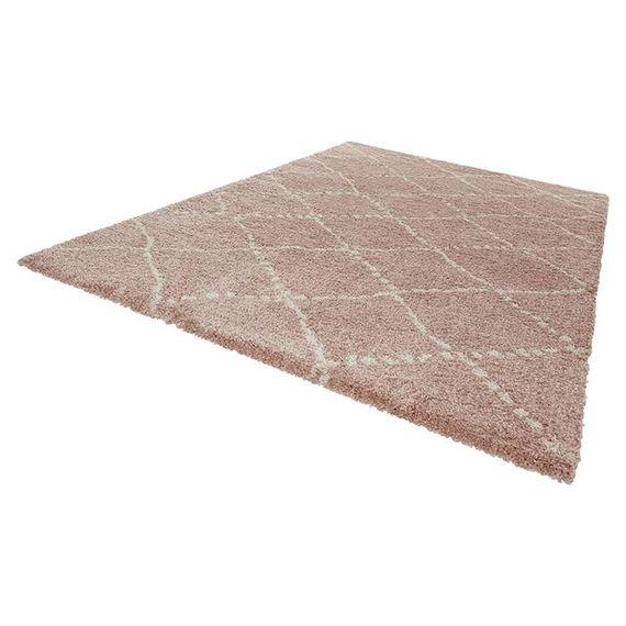 Mint Rugs Hoogpolig vloerkleed - Allure Stripe roze/creme