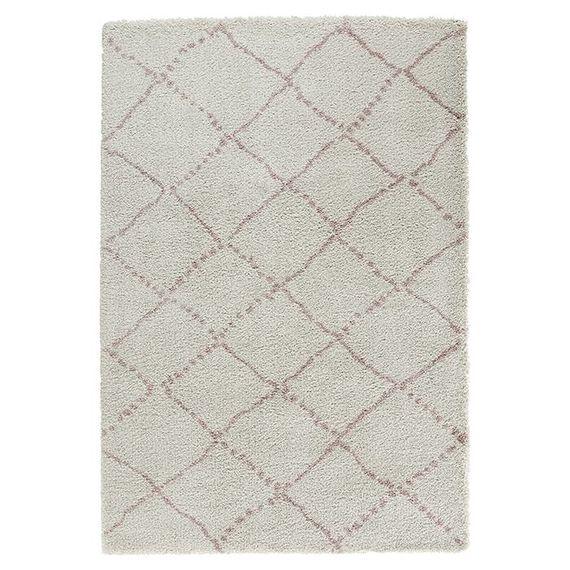 Mint Rugs Hoogpolig vloerkleed - Allure Stripe creme/roze