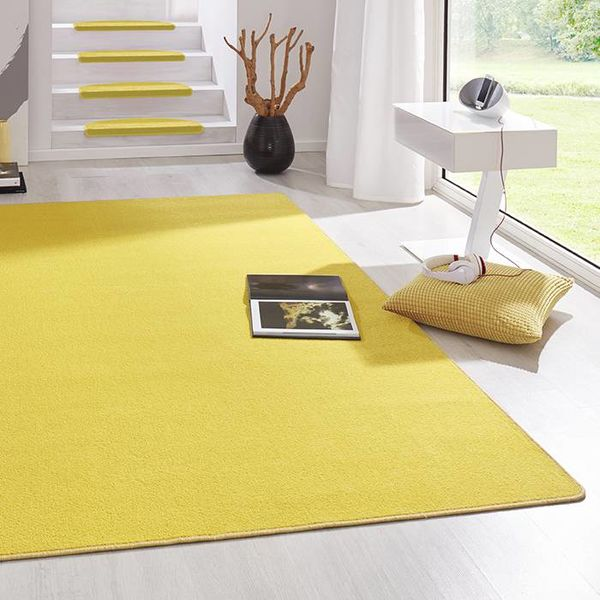 Laagpolig vloerkleed - Fancy geel