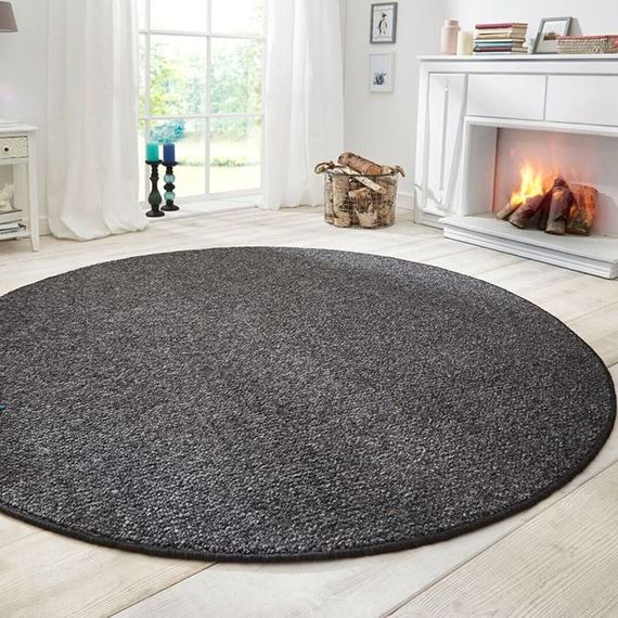 Mint Rugs Rond vloerkleed Wolly - Antraciet