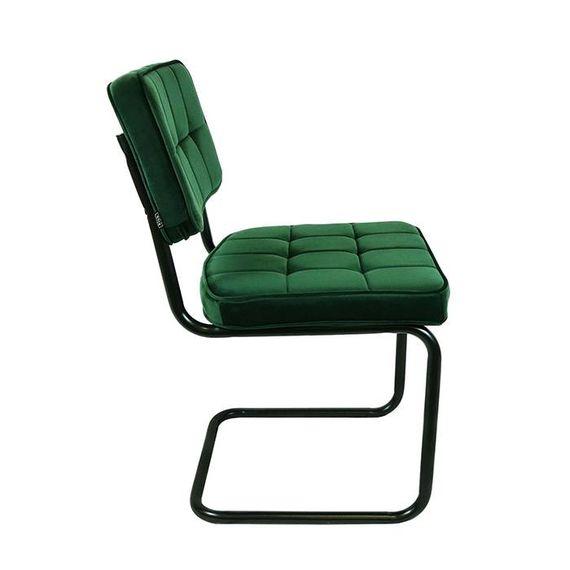 Kick Collectie Stoel Velvet Ivy - Donker Groen