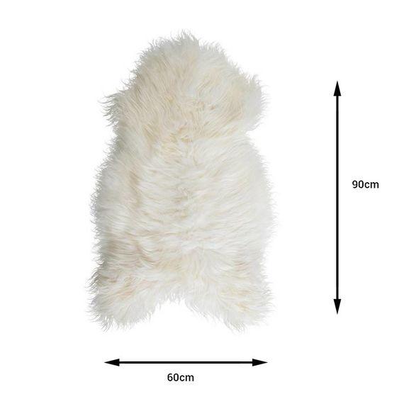 Wit Schapenvacht 90cm - Vloerkleed