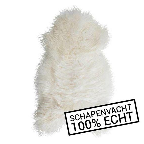 FRAAI Wit Schapenvacht 90cm - Vloerkleed