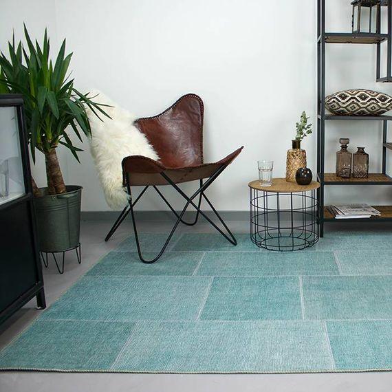 Brinker carpets Patchwork vloerkleed - Moods Zee blauw No.08