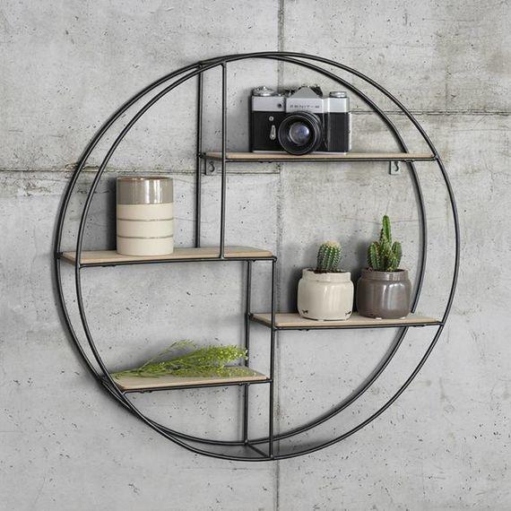 Vintage Wandrek rond - Home Living