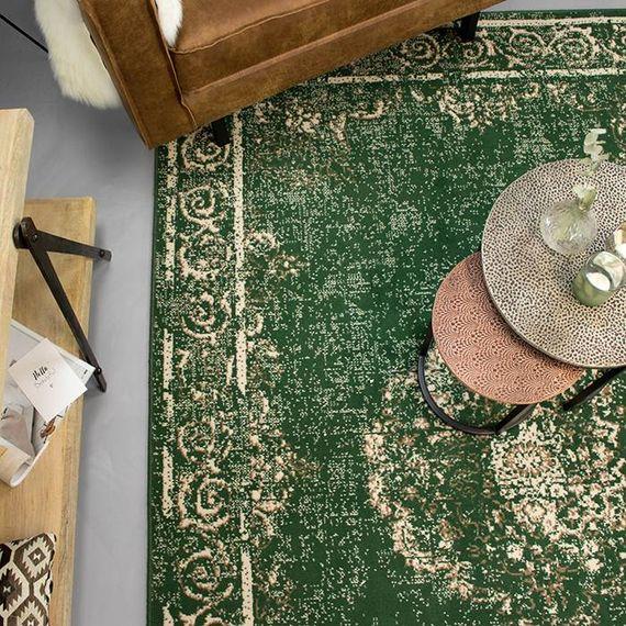 FRAAI Vintage vloerkleed - Famous Groen